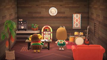 Interior of Curlos's house in Animal Crossing: New Horizons