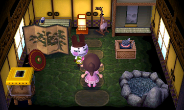 Interior of Genji's house in Animal Crossing: New Leaf