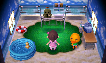 Interior of Joey's house in Animal Crossing: New Leaf