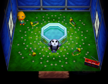 Interior of Joey's house in Animal Crossing