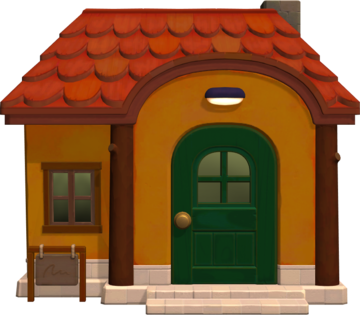 Exterior of Kiki's house in Animal Crossing: New Horizons