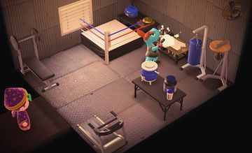 Interior of Rooney's house in Animal Crossing: New Horizons