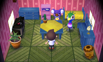 Interior of Sydney's house in Animal Crossing: New Leaf