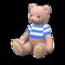 Mama Bear (Cream - Blue Stripes) NH Icon.png