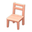 Wooden Chair (Pink Wood)