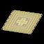 Yellow Kilim-Style Carpet