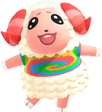 Dom, an Animal Crossing villager.