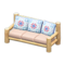 Log Extra-Long Sofa (White Wood - Quilted) NH Icon.png