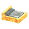 Frozen Bed (Ice Yellow - Gray) NH Icon.png