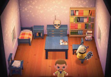 Interior of Antonio's house in Animal Crossing: New Horizons