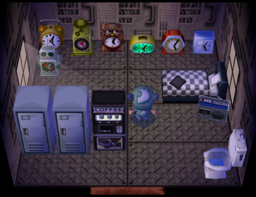 Interior of Chief's house in Animal Crossing