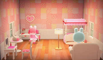 Interior of Gayle's house in Animal Crossing: New Horizons