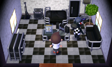 Interior of Roscoe's house in Animal Crossing: New Leaf
