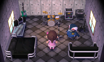Interior of Tex's house in Animal Crossing: New Leaf