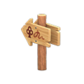 Angled Signpost (Forest) NH Icon.png