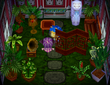 Interior of Aziz's house in Animal Crossing