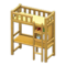 Loft Bed with Desk (Natural - Yellow) NH Icon.png