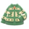 Reindeer Sweater (Green) NH Icon.png