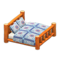Log Bed (Orange Wood - Quilted) NH Icon.png