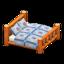 Log Bed (Orange Wood - Quilted)