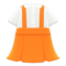 Skirt with Suspenders (Orange) NH Icon.png