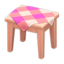 Wooden Mini Table (Pink Wood - Pink)
