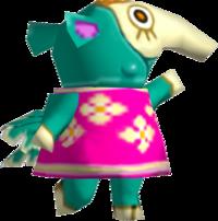 Zoe, an Animal Crossing villager.