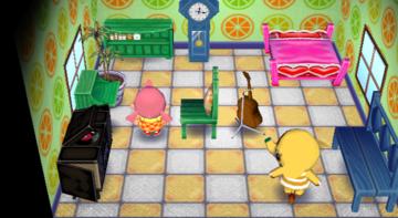 Interior of Eloise's house in Animal Crossing: City Folk
