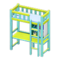 Loft Bed with Desk (Light Blue - Light Blue) NH Icon.png