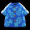 Pineapple Aloha Shirt (Blue) NH Icon.png