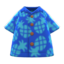 Pineapple Aloha Shirt (Blue) NH Icon.png