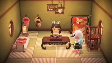 Interior of Blanche's house in Animal Crossing: New Horizons