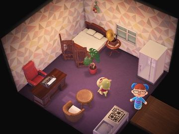 Interior of Elise's house in Animal Crossing: New Horizons