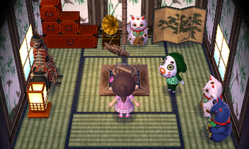 Interior of Marcel's house in Animal Crossing: New Leaf