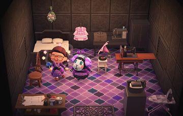 Interior of Muffy's house in Animal Crossing: New Horizons