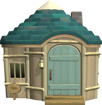 Exterior of Pierce's house in Animal Crossing: New Horizons