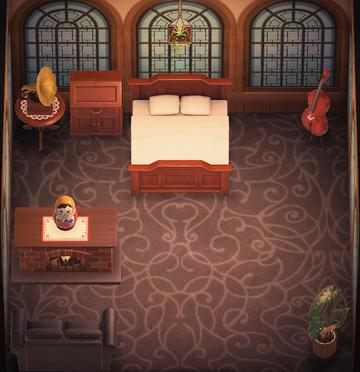 Interior of T-Bone's house in Animal Crossing: New Horizons