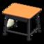 School Desk (Light Brown & Black)