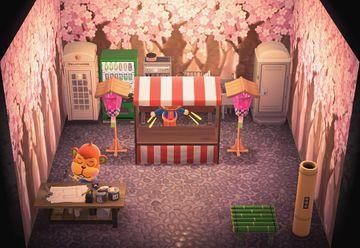 Interior of Flip's house in Animal Crossing: New Horizons