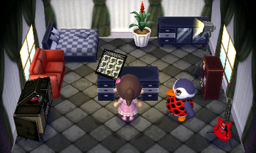 Interior of Flo's house in Animal Crossing: New Leaf