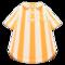 Vertical-Stripes Shirt (Orange) NH Icon.png