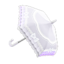 White Shiny-Bows Parasol