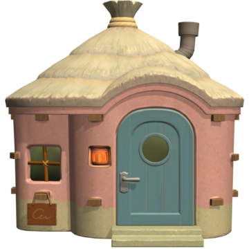 Exterior of Étoile's house in Animal Crossing: New Horizons