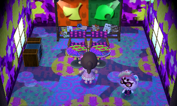 Interior of Cece's house in Animal Crossing: New Leaf
