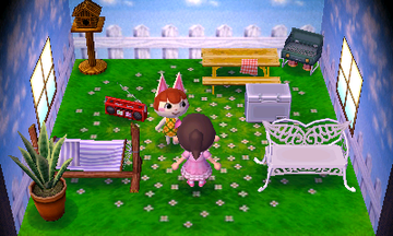 Interior of Felicity's house in Animal Crossing: New Leaf