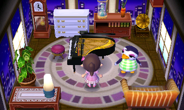 Interior of Gwen's house in Animal Crossing: New Leaf