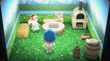 Interior of Norma's house in Animal Crossing: New Horizons