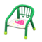 Baby Chair (Green - Strawberry) NH Icon.png