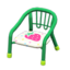 Baby Chair (Green - Strawberry)