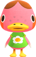 Artwork of Freckles the Duck